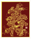China paper CUT Dragon Royalty Free Stock Images