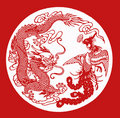 China paper CUT Dragon phoenix Stock Images