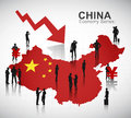China recession vector the of Stock Photo