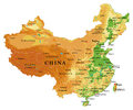 China relief map Royalty Free Stock Photo