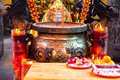 China, religious beliefs, traditional style, temples, large censer Royalty Free Stock Photo