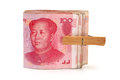 China renminbi on white background Royalty Free Stock Image