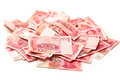 China renminbi on white background Royalty Free Stock Photo