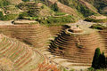China - rice terraces Stock Photo