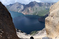 China s changbai mountain tianchi deepest lake located in southeast in jilin province is and north korea lake just Royalty Free Stock Photos