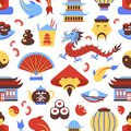 China seamless pattern Royalty Free Stock Photo