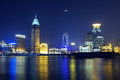 China Shanghai skyline night Royalty Free Stock Photos