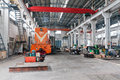 China steel mill train repair factory in hangzhou maintenance workshop an old waiting for Royalty Free Stock Image