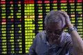 China stock market crash Royalty Free Stock Photo
