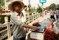China Street fruit seller Royalty Free Stock Photography