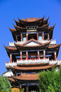 China Temples pavilions and sky Stock Photos