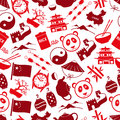 China theme color icons seamless pattern Royalty Free Stock Photo