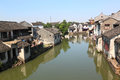 China tongli ancient small water town in preserved with traditional buildings famous with many rivers and bridges within the town Stock Photos