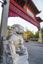 China town entrance to montreal canada Royalty Free Stock Images