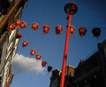 China Town lanterns Stock Images