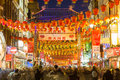 China Town in London for Chinese New Year Royalty Free Stock Photo