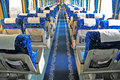 China train interior Royalty Free Stock Photography