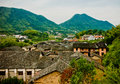 China village a small rural in the hunan of south Royalty Free Stock Photo