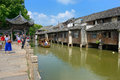 China wuzhen tongxiang city zhejiang province located in the northwest corner with six thousand years of history is a typical Royalty Free Stock Images