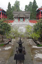 China xian ancient temple it is located in zhongnashan at the foot of the temples floor guangtai and mammon Stock Images