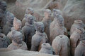CHINA, XIAN - MARCH 14: Ping Ma Yong, Terra cotta army on 14 Mar Royalty Free Stock Photo
