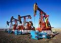 China/xijiang: oil pumping unit Royalty Free Stock Photo