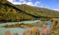 China/xinjiang:wolong bay whole picture in kanas resort Royalty Free Stock Photo