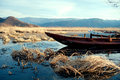 China yunnan lugu lake scenery winter yunnan lugu lake scenery winter Stock Photos