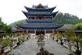 China yunnan wood house main entrance museum Royalty Free Stock Photography