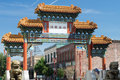Chinatown gateway in portland oregon Stock Images
