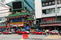 Chinatown in kuala lumpur jun gateway to jalan petaling on jun malaysia it is famous tourist place with bustling Royalty Free Stock Images