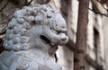 Chinatown lion closeup photo of a statue in london s Stock Image