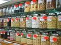 Chinatown Market Bottled Goods Royalty Free Stock Photography