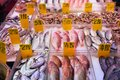 Chinatown market fish in lower manhattan new york seafood store Royalty Free Stock Image