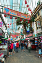 Chinatown market in kuala lumpur jun of jalan petaling on jun malaysia it is famous tourist place with bustling Royalty Free Stock Images