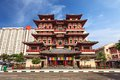 Chinatown singapore buddha tooth relic temple Stock Image