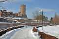 Chindia fortress snow Stock Images