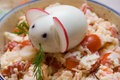 Chinese 2008 New Year symbolic mouse made from egg Stock Photography