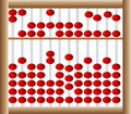 Chinese abacus simple illustration of a Stock Photography