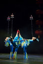 Chinese acrobats. Shantu Acrobatics Troupe. Stock Images
