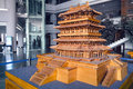 Chinese ancient architecture model Stock Images