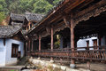 Chinese ancient architecture taken in in zhejiang province china Stock Image