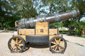 Chinese ancient cannon in park Stock Photo