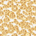 Chinese ancient coin dimension seamless pattern Royalty Free Stock Photo