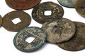 Chinese ancient coin Royalty Free Stock Photo