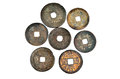 Chinese ancient coins china years ago in the qing dynasty Stock Photography