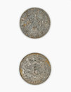 Chinese ancient currency more than years ago china the coins of qing dynasty Royalty Free Stock Image