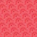 Chinese ancient pattern half circle red seamless pattern Royalty Free Stock Photo