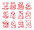 Chinese ancient zodiac animal year symbol Royalty Free Stock Photos