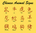 Chinese Animal Signs Royalty Free Stock Images